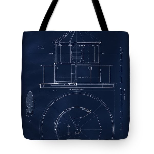Lighthouse Lantern Drawing Tote Bag by Jerry McElroy