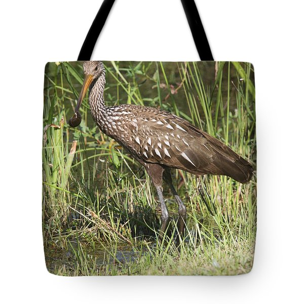 Tote Bag featuring the photograph Limpkin In The Glades by Christiane Schulze Art And Photography