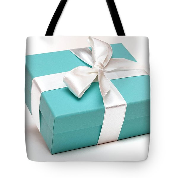 Little Blue Gift Box Tote Bag