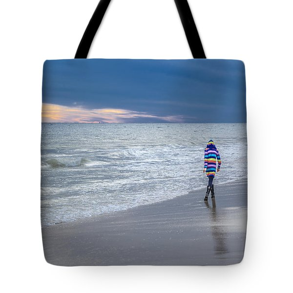 Little Girl At The Beache Tote Bag