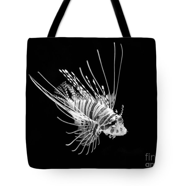 Little Lionfish Tote Bag by Jamie Pham