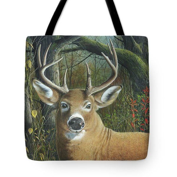 Tote Bag featuring the painting Living On The Edge by Mike Brown