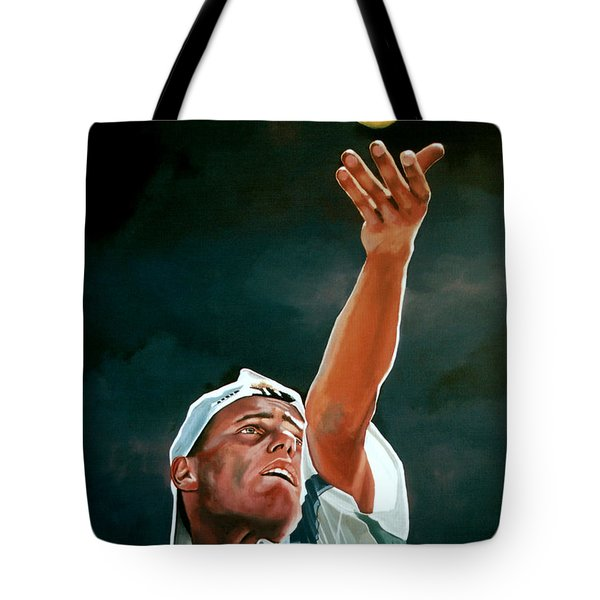 Lleyton Hewitt Tote Bag by Paul Meijering