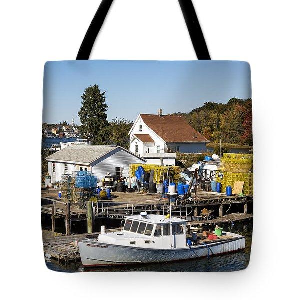 Lobster Boat Tote Bag by John Greim