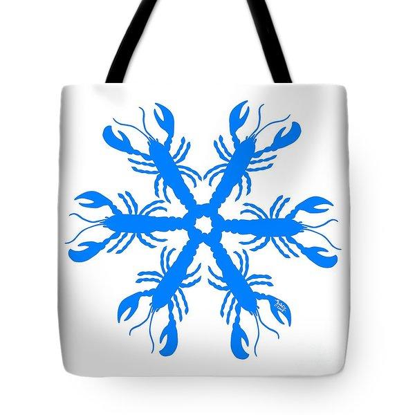 Lobster Snowflake 198 20080719 Tote Bag by Julie Knapp