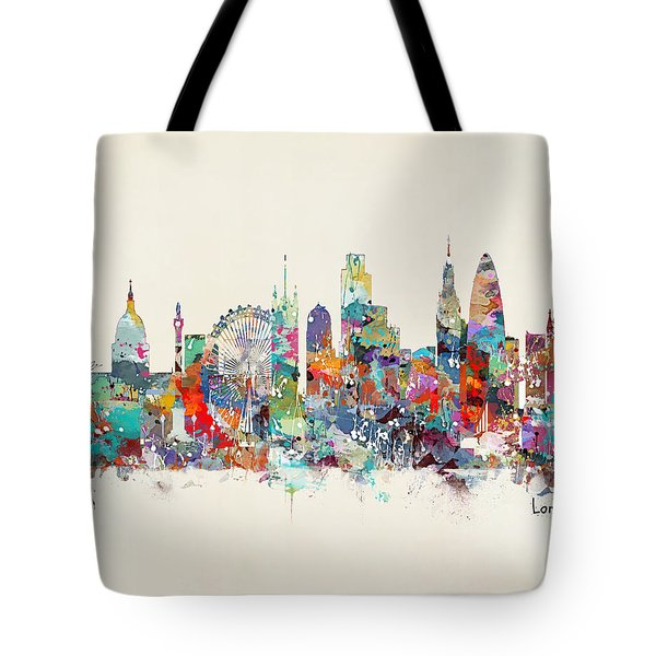 London City Skyline Tote Bag