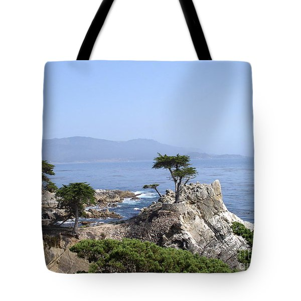 Tote Bag featuring the photograph Lone Cypress by Bev Conover