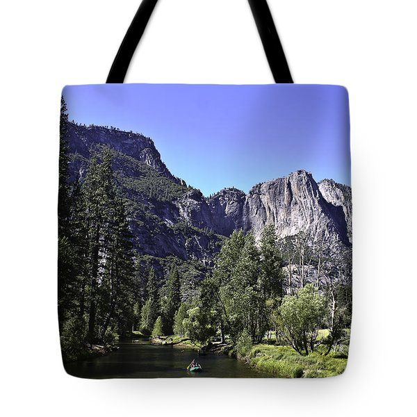 Tote Bag featuring the photograph 1 Lone Rafter by Brian Williamson