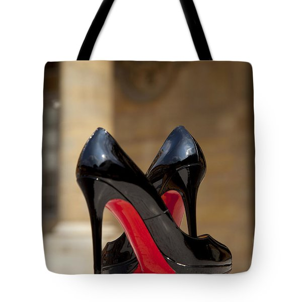 Tote Bag featuring the photograph Louboutin Heels by Brian Jannsen