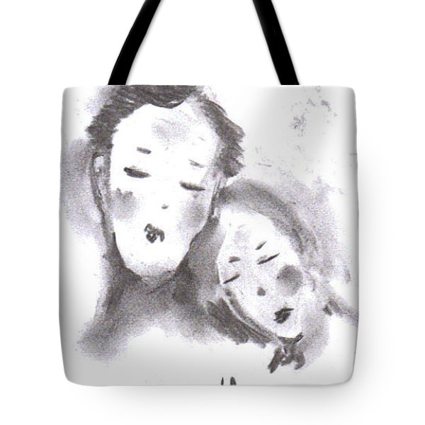 Tote Bag featuring the drawing Love by Laurie L