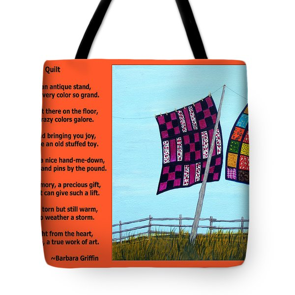 Love Of A Quilt  Tote Bag by Barbara Griffin
