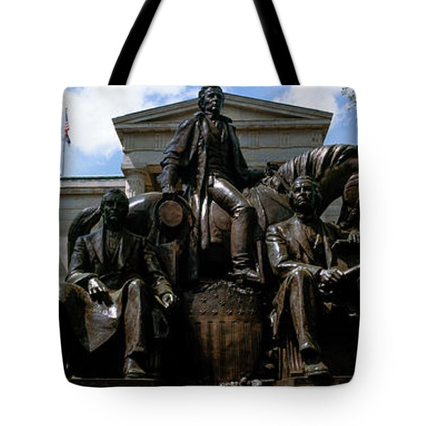 Low Angle View Of Statue Tote Bag