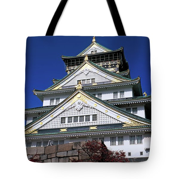 Low Angle View Of The Osaka Castle Tote Bag