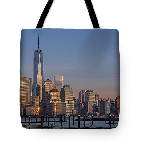 Lower Manhattan Skyline Tote Bag