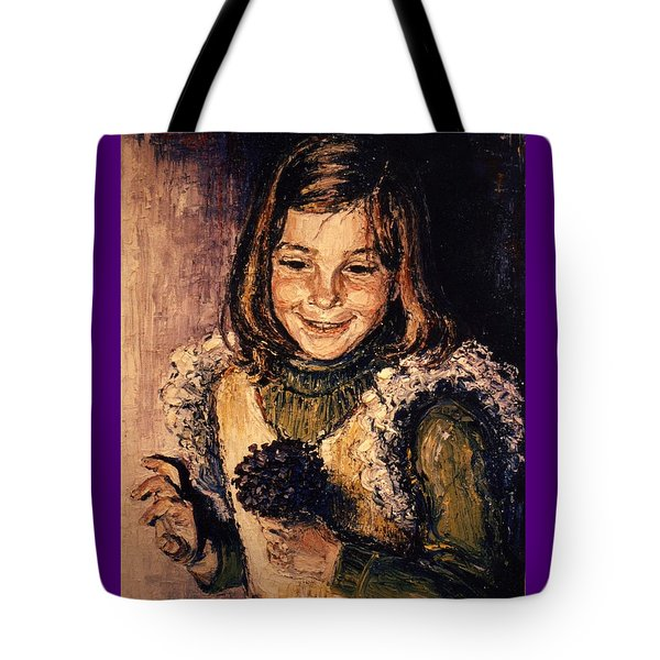Tote Bag featuring the painting Luisa Fernanda by Walter Casaravilla
