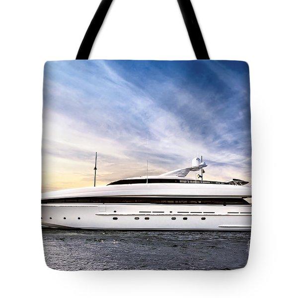 Luxury Yacht Tote Bag by Elena Elisseeva