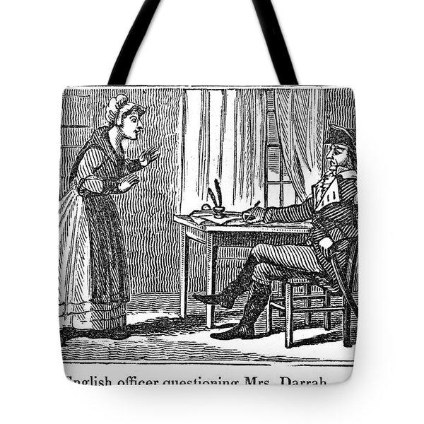 Lydia Darrah, 1777 Tote Bag by Granger