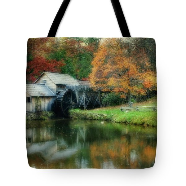Mabry Mill Tote Bag by Joan Bertucci
