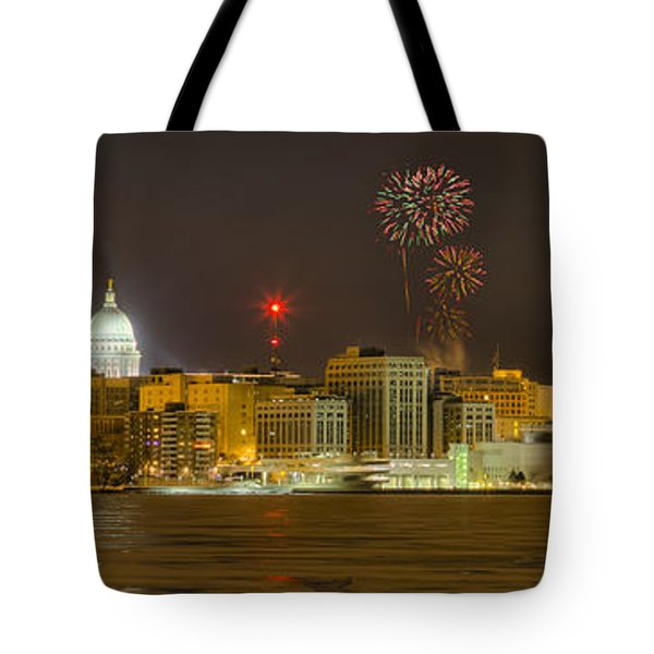 Madison New Years Eve Tote Bag by Steven Ralser