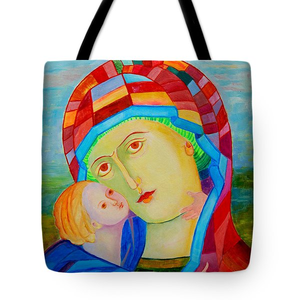 Our Lady Of Perpetual Help. Our Lady Of Perpetual Succor. Mother Mary. Blessed Mother. Icon Eleusa Tote Bag