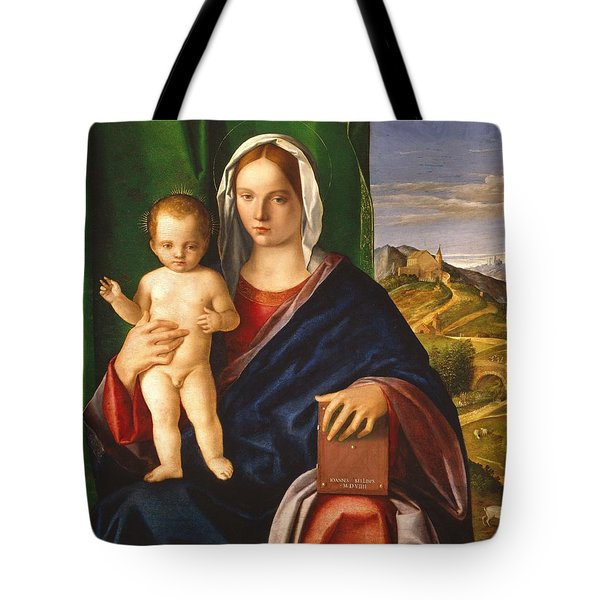Madonna And Child Tote Bag by Giovanni Bellini