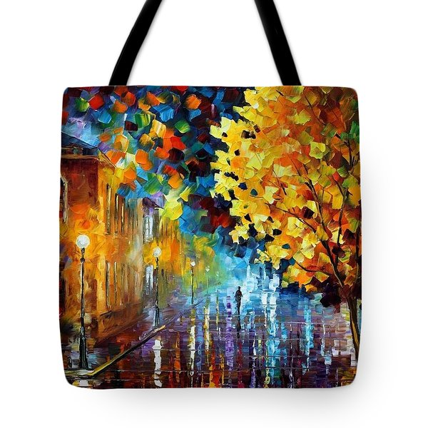 Magic Rain Tote Bag by Leonid Afremov