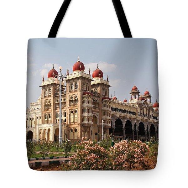 Maharaja's Palace And Garden India Mysore Tote Bag by Carol Ailles