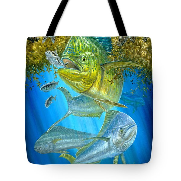 Mahi Mahi Hunting In Sargassum Tote Bag