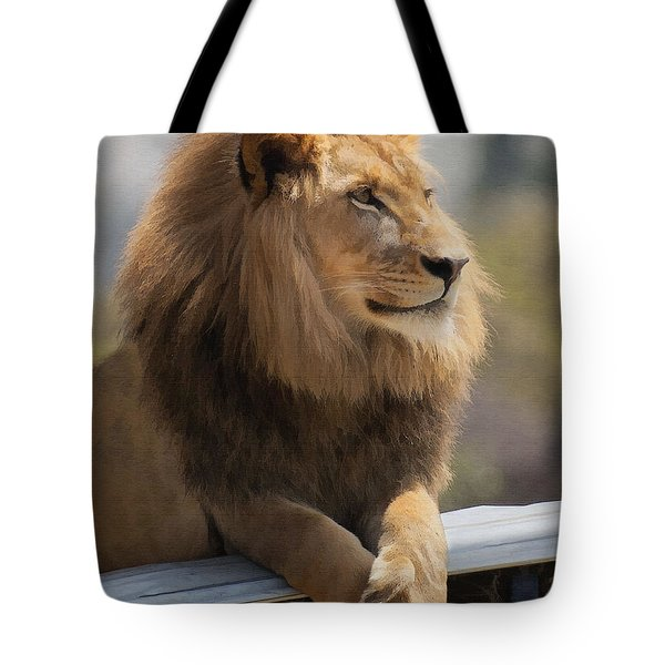 Majestic Lion Tote Bag by Sharon Foster