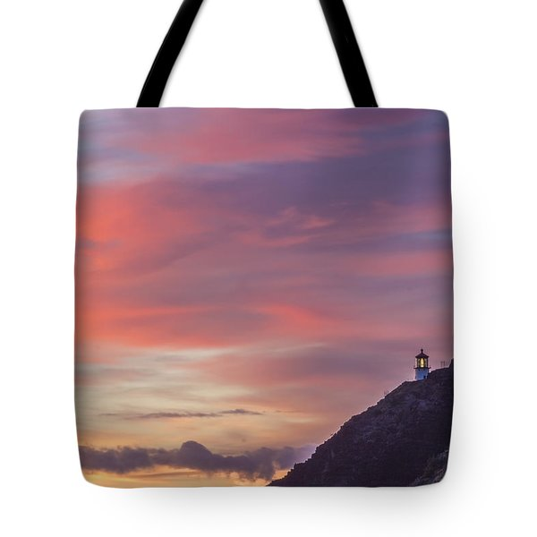 Makapuu Lighthouse 3 Tote Bag by Leigh Anne Meeks