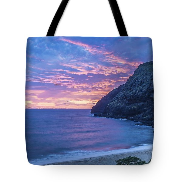 Makapuu Sunrise 2 Tote Bag by Leigh Anne Meeks