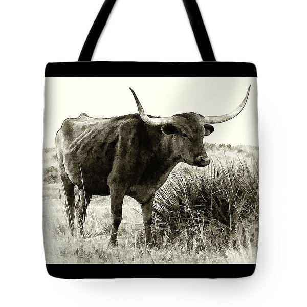 Tote Bag featuring the photograph Mama Longhorn by Bill Kesler