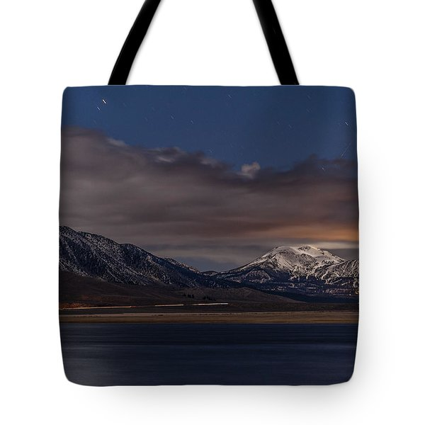 Mammoth At Night Tote Bag by Cat Connor