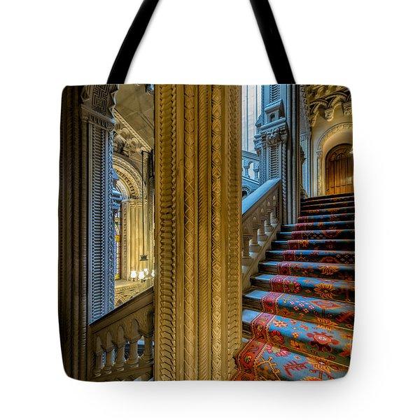 Mansion Stairway Tote Bag by Adrian Evans