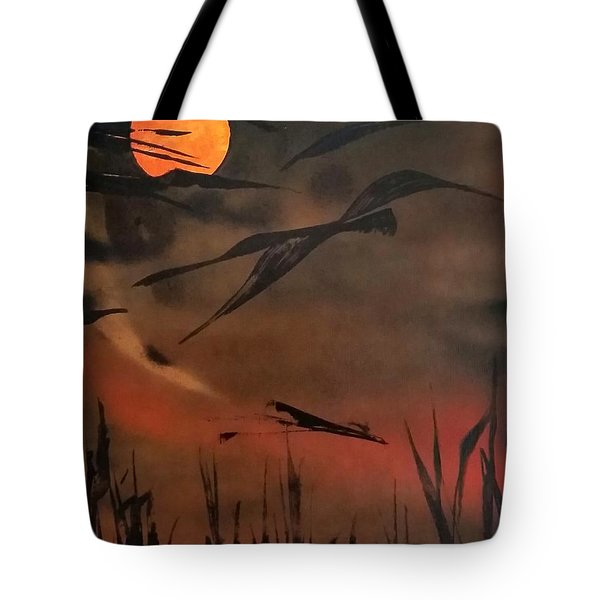 Marsh Birds Tote Bag