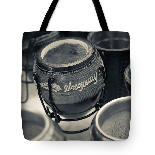 Mate Cups At A Market Stall, Plaza Tote Bag
