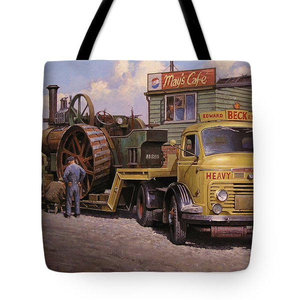 May's Transport Cafe. Tote Bag by Mike  Jeffries
