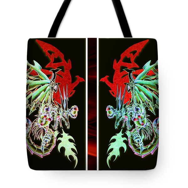 Mech Dragons Pastel Tote Bag