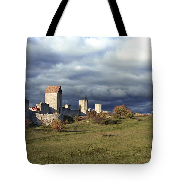 Medieval City Wall Defence Tote Bag