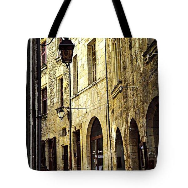 Medieval Street In France Tote Bag by Elena Elisseeva