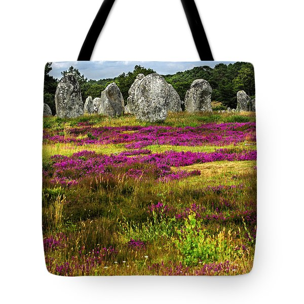 Megalithic Monuments In Brittany Tote Bag