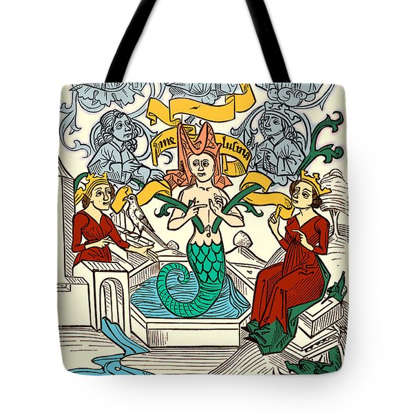 Melusine Legendary Creature Tote Bag by Photo Researchers