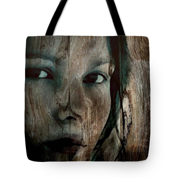 Memory Etched In Wood Tote Bag