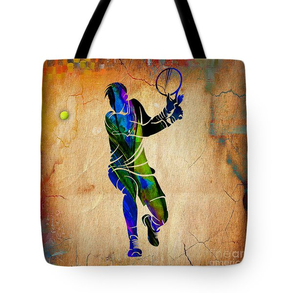 Mens Tennis Tote Bag by Marvin Blaine