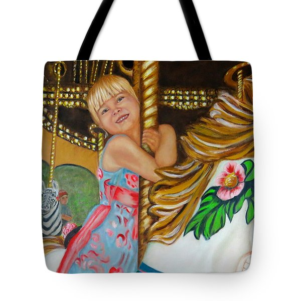 Merry-go-round Tote Bag by Sharon Schultz
