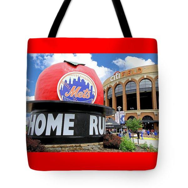 Mets Home Run Apple Tote Bag