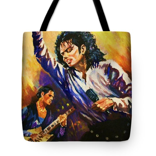 Michael Jackson In Concert Tote Bag