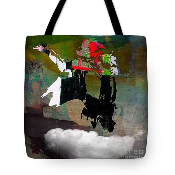 Michael Jackson Resurrected Tote Bag