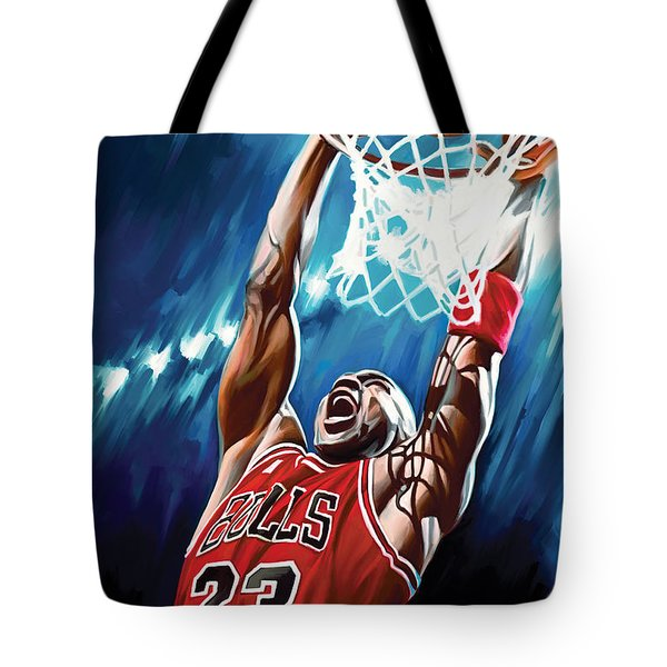 Michael Jordan Artwork Tote Bag by Sheraz A