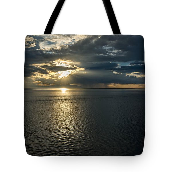 Midnight Sun Over Mount Susitna Tote Bag